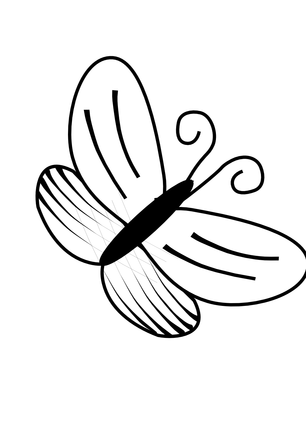 999x1413 Butterfly Black And White Clip Art