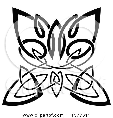 450x470 Celtic Clipart Butterfly