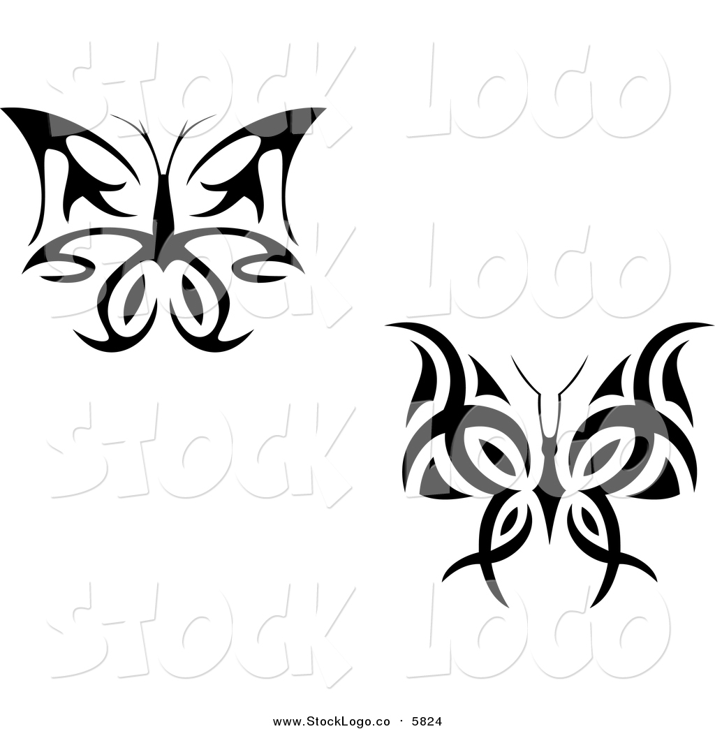 1024x1044 Vector Clipart Of Black And White Butterfly Logos By Vector