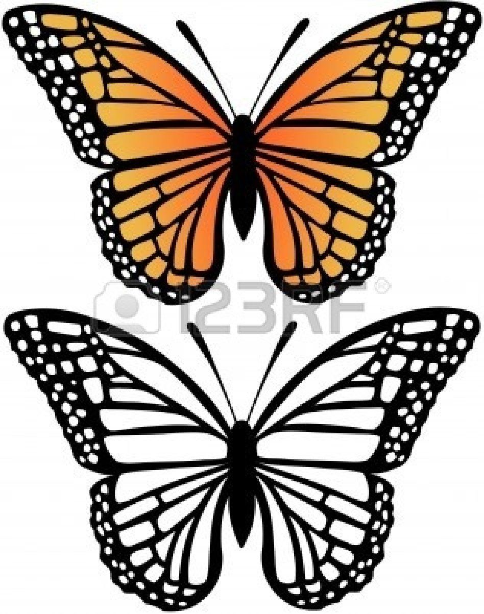 948x1203 Free Monarch Butterfly Clip Art Black And White Monarch Butterfly