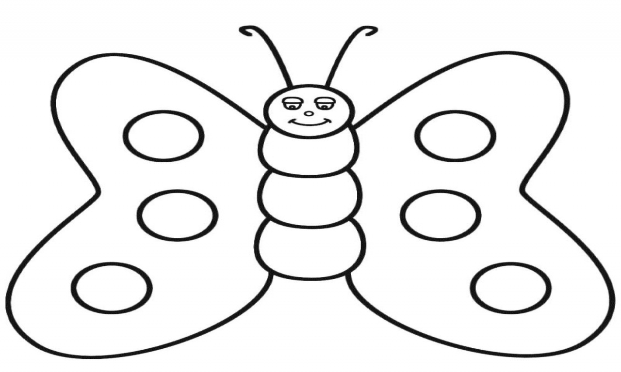 1280x768 Butter Coloring Pages Cute Butterfly Line Drawing Clip Art