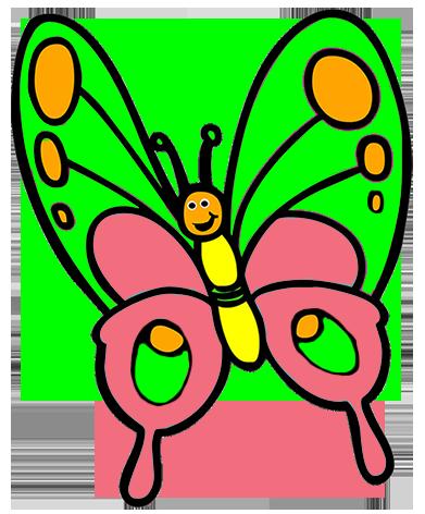 391x472 Butterfly clip art