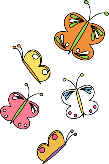 367x550 Flying Butterflies Clip Art