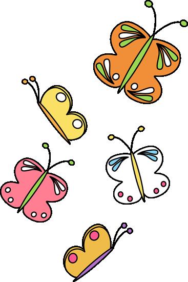 367x550 Flying Butterflies Clip Art