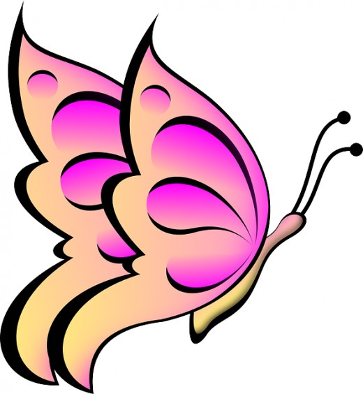 520x564 Butterflies pink butterfly clipart free images 2