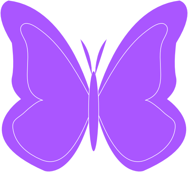 600x550 Butterfly Clipart Simple Butterfly