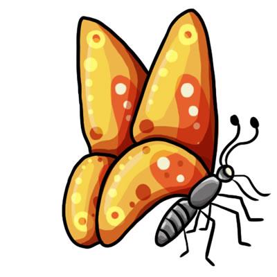 400x400 Clip Art Free Butterflies