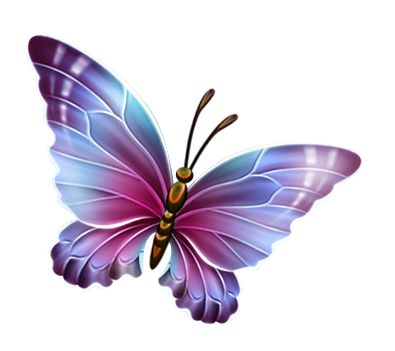 395x351 Dark Clipart Purple Butterfly