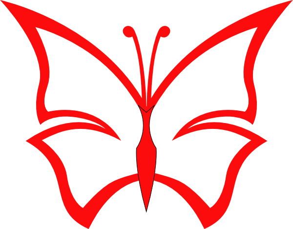 600x469 Red Butterfly Clip Art