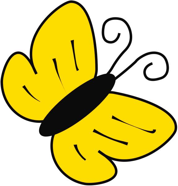 575x600 Butterfly Clip Art Yellow