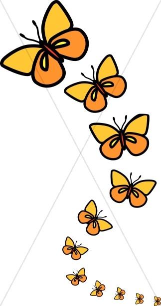 323x612 Clipart Images For April Butterflies