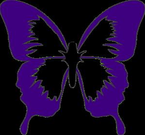 299x279 Purple Butterfly Clip Art