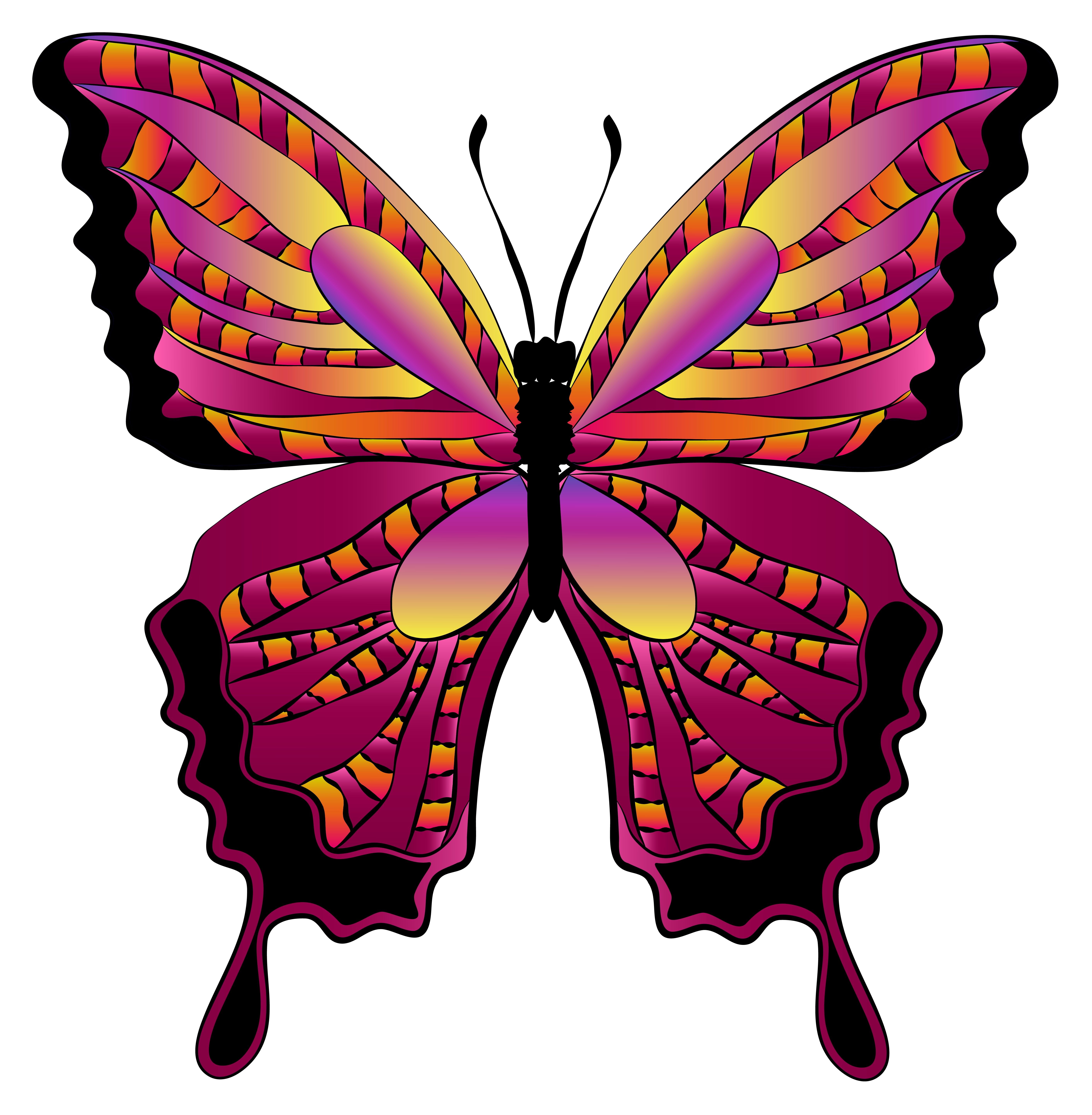 5647x5768 Red Butterfly Clipart Image