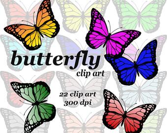 340x270 Butterfly Clipart Digital Butterflies Scrapbooking Clip Art Card