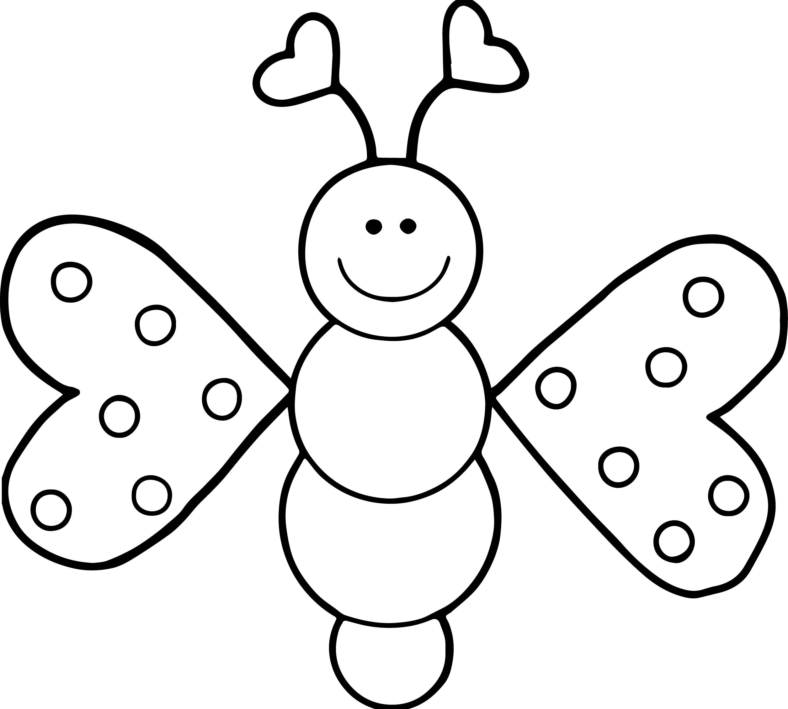 2512x2262 Cartoon Girl Butterfly Coloring Page Wecoloringpage
