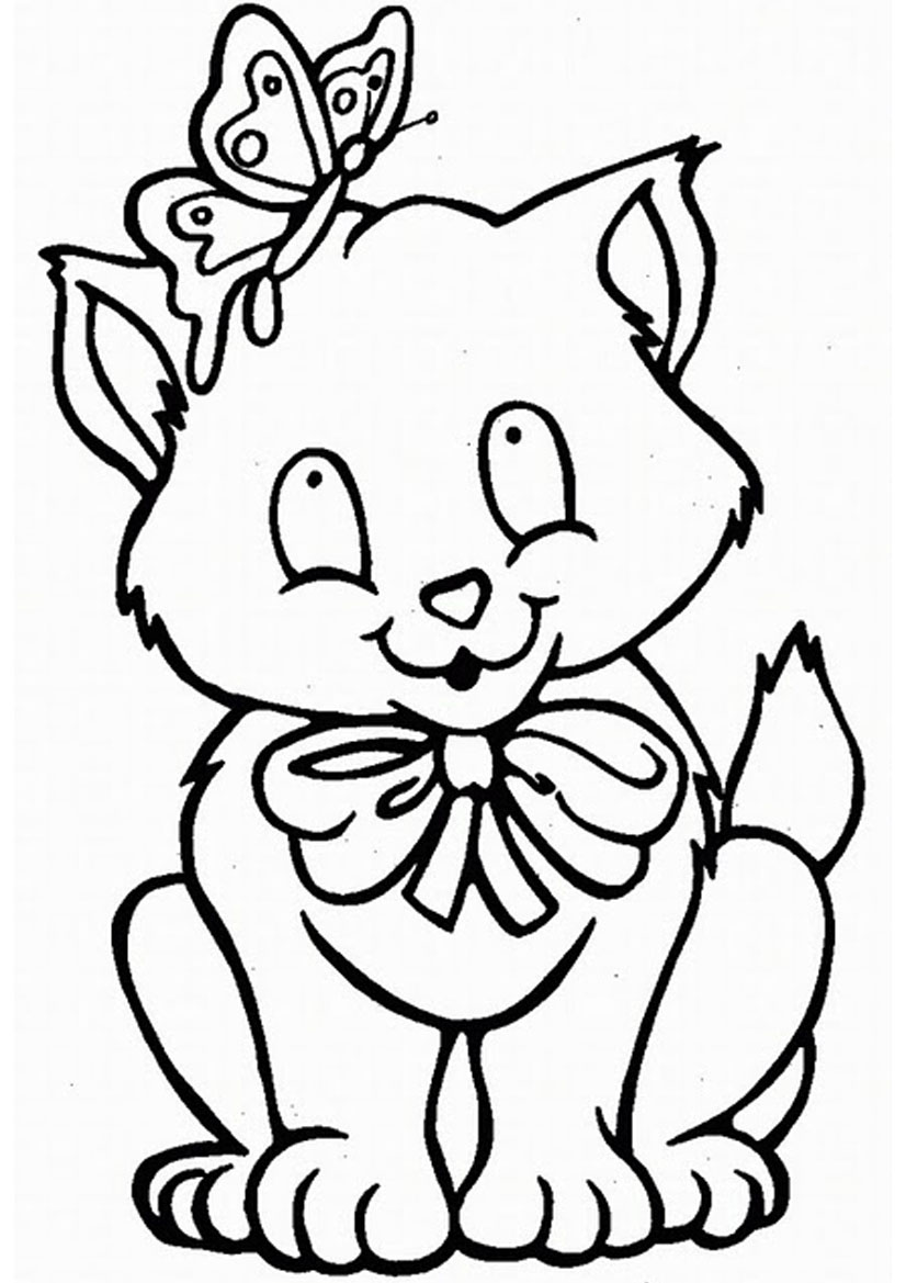 826x1169 Cat Free Coloring Pages