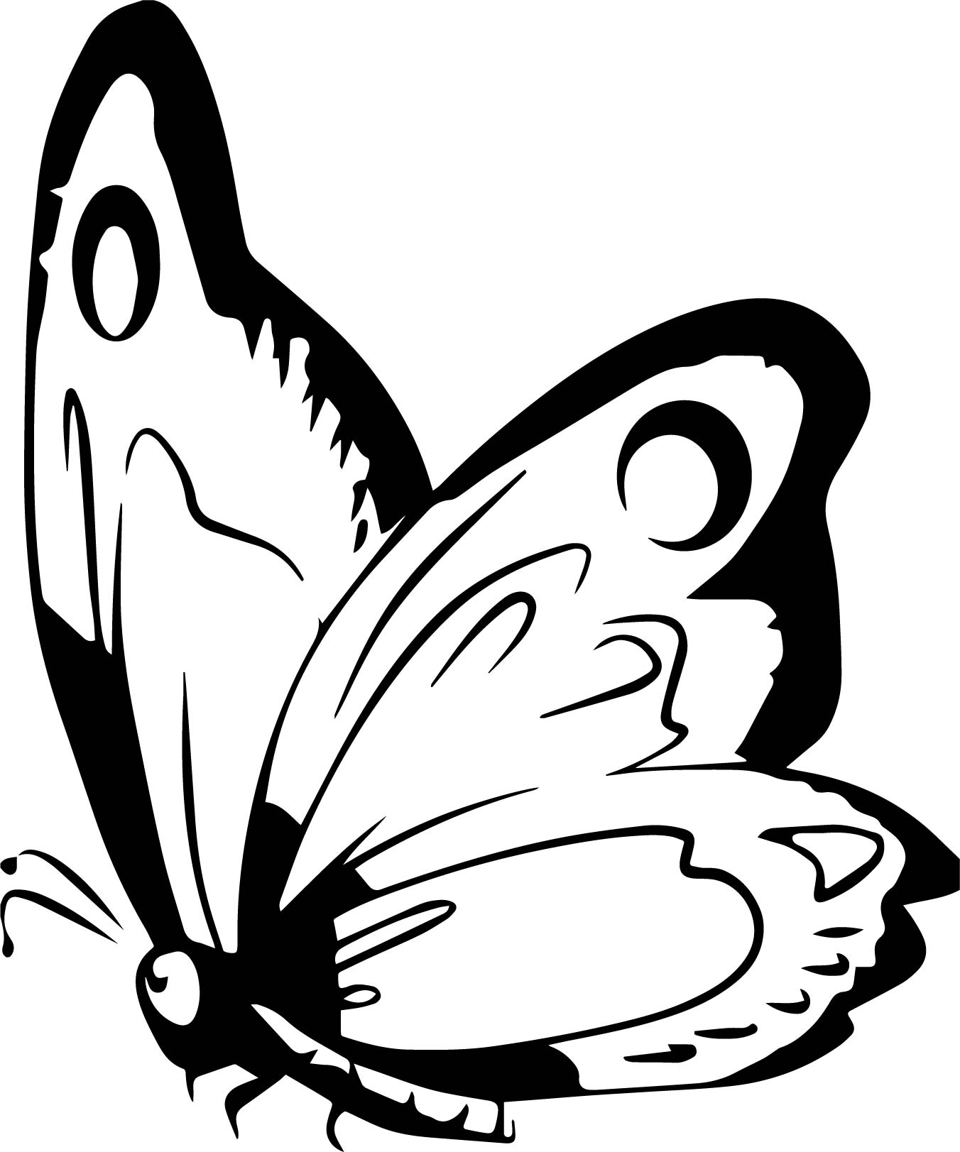 1352x1623 Coloring Pages Animals Free Butterfly Adult Coloring Pages