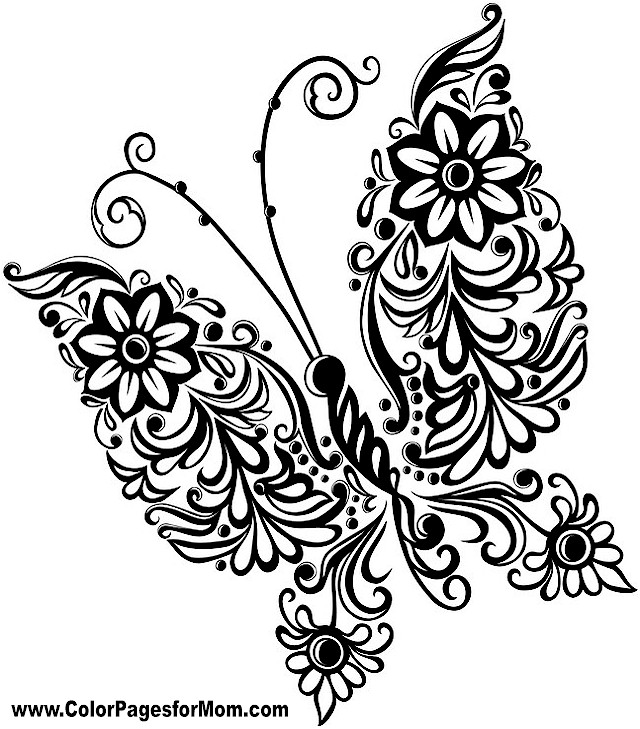 Butterfly Coloring Pages | Free download best Butterfly Coloring ...