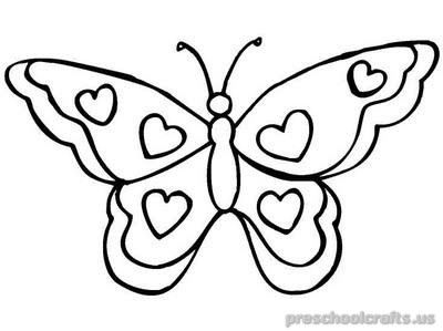400x299 Animals Butterfly Coloring Pages For Toddler