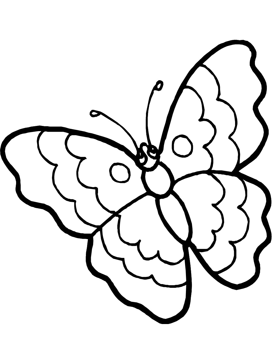 950x1266 Butterflies Coloring Pages