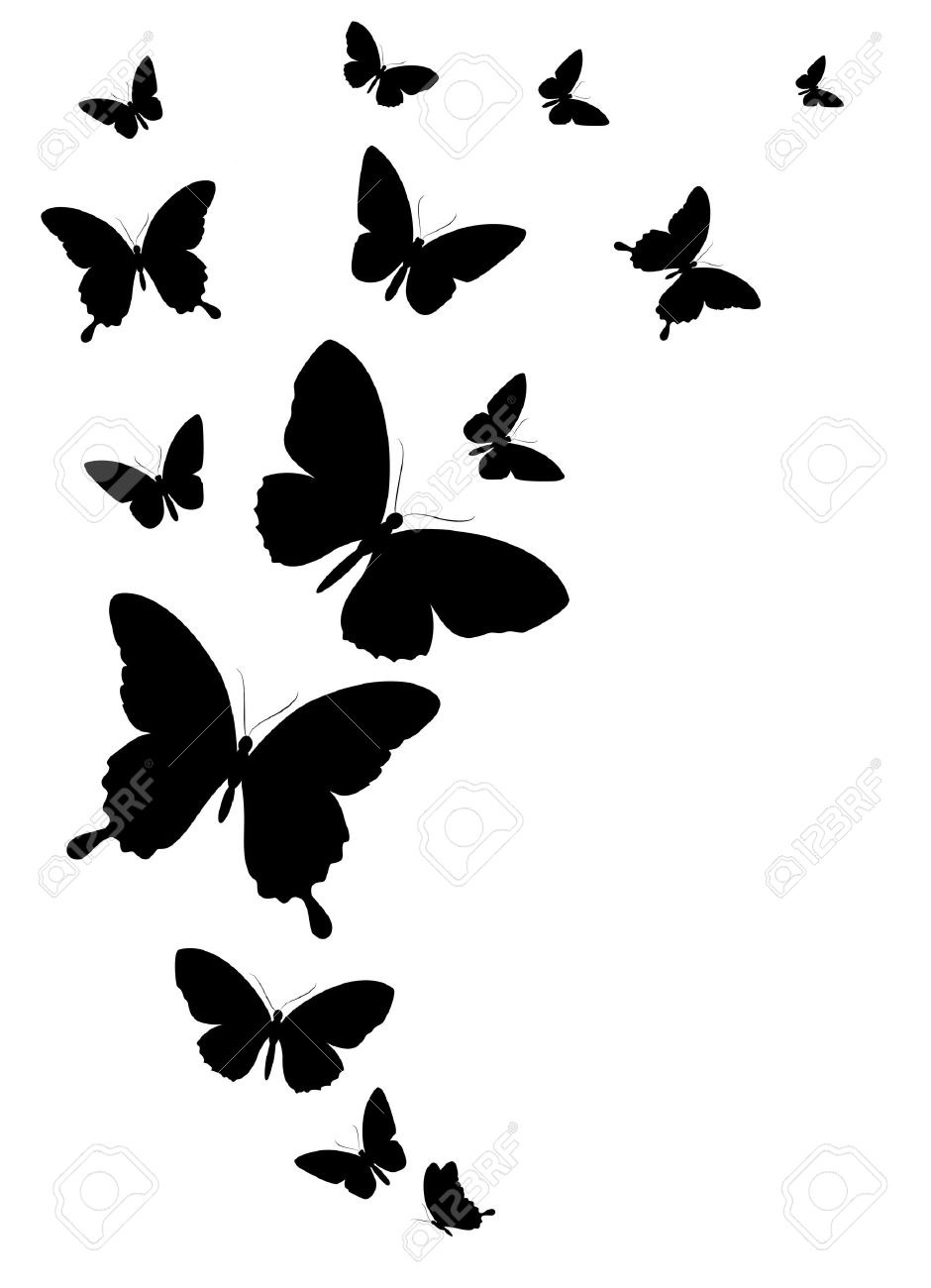 940x1300 Butterfly Designs Black And White. Butterfly Silhouette