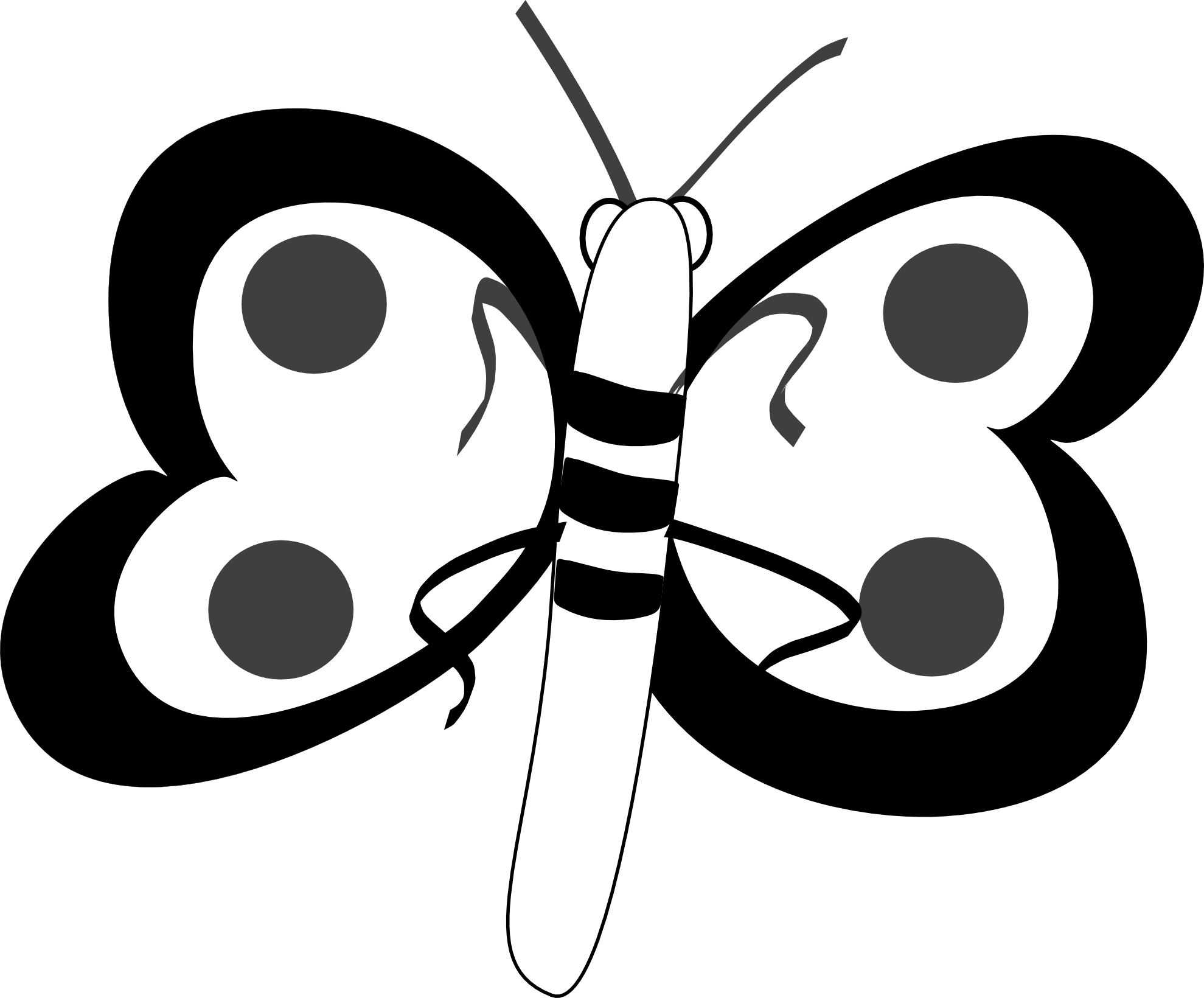 1979x1640 Butterfly Black And White Butterfly Clip Art Black And White