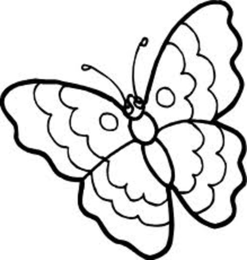 500x525 Butterfly Black White Cartoon Butterfly Clipart Black