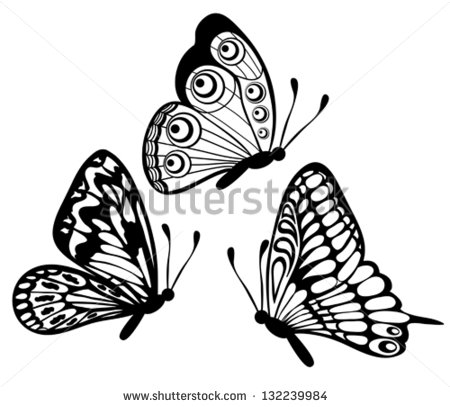 450x407 Profile Clipart Butterfly