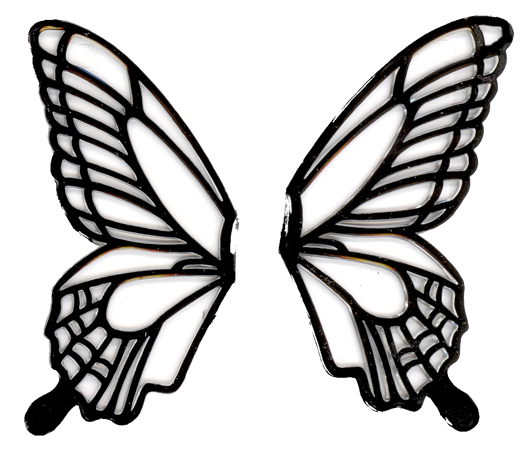 1087x933 Butterfly Wings Black And White Clipart