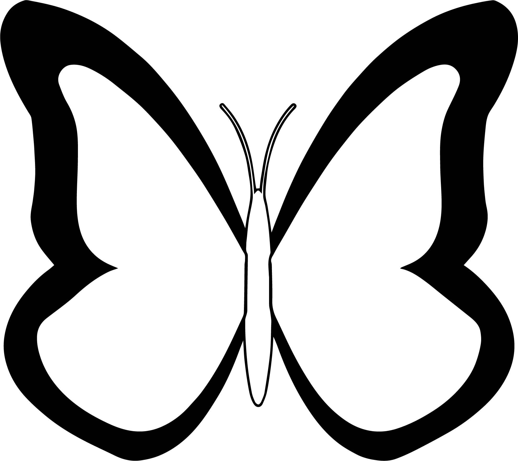 1981x1763 Black White Butterfly Coloring Page Wecoloringpage
