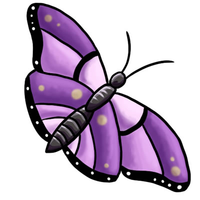 400x400 Butterfly Clipart Free