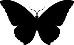 300x182 Butterfly Silhouette Clip Art Many Interesting Cliparts