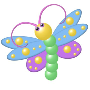 360x360 Butterfly Clipart Dragonfly