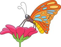 200x154 Clipart Butterflies And Flowers