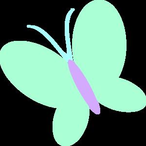 300x300 Green Butterfly Clip Art