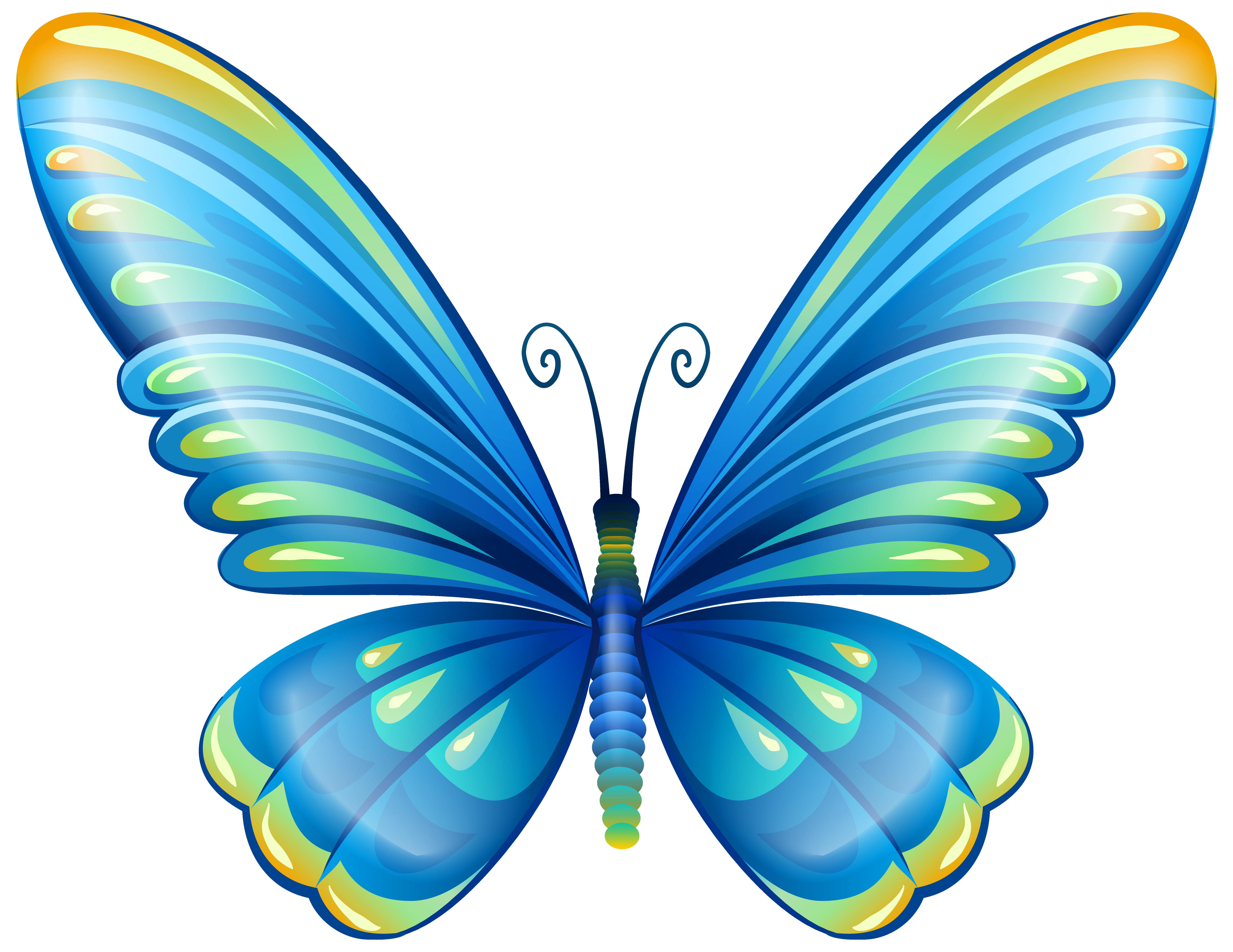 7679x5932 Top 87 Butterfly Clip Art
