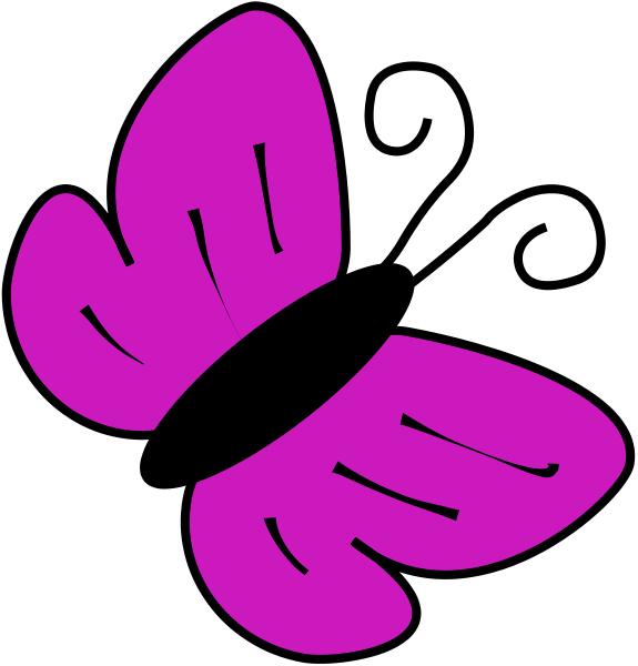 575x600 Butterfly Clip Art Purple