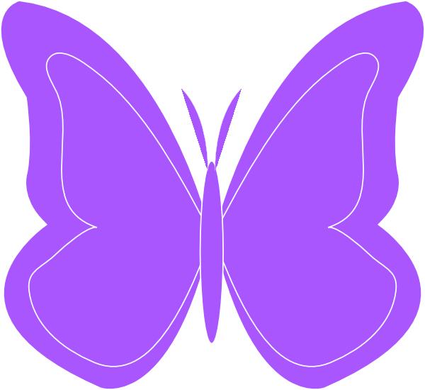 600x550 Butterfly Clipart Purple Butterfly