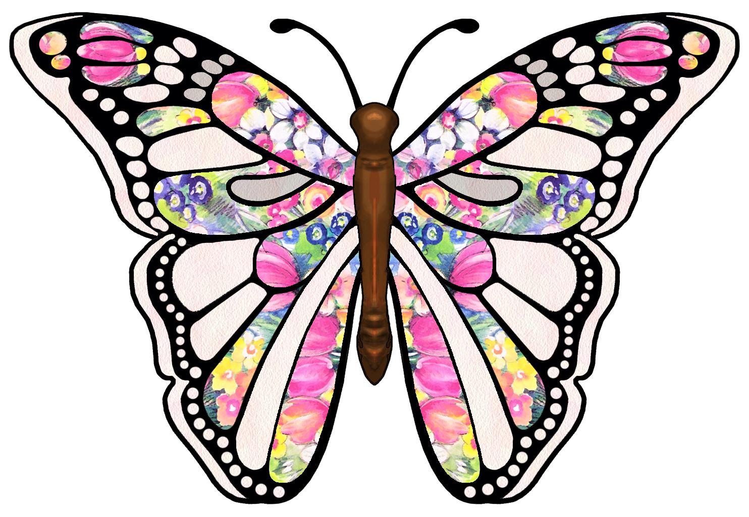 1484x1026 Clip On Butterflies