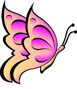 261x300 Butterfly Clip Art