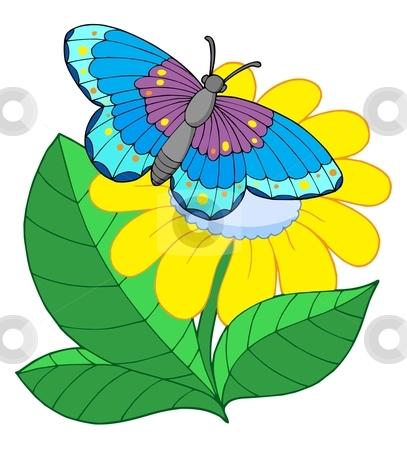 407x450 Flower Clipart Butterfly Flower