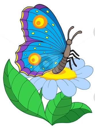 331x450 Flowers And Butterfly Clipart