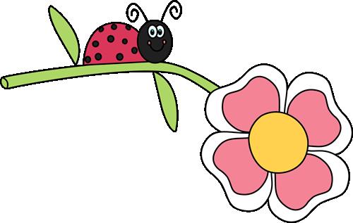 500x317 Ladybug On A Flower Clip Art