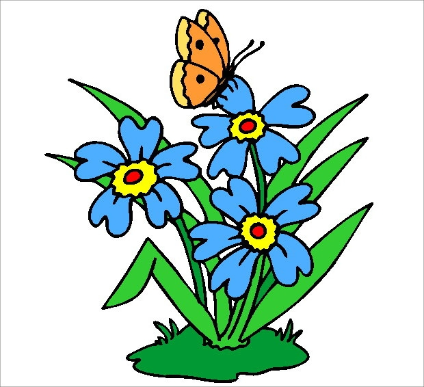 620x566 Butterfly Flower Clip Art Cliparts