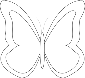 298x273 Butterfly Outline Clip Art