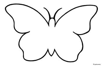 350x226 Butterfly Outline Clipart