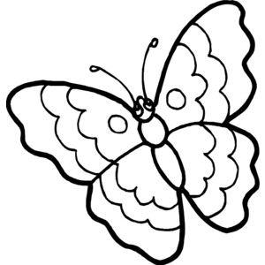 300x300 Butterfly Outline Clipart