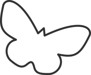 298x246 Butterfly Silhouette Cropped Clip Art