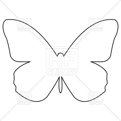 400x400 Butterfly Outline Royalty Free Vector Clip Art Image