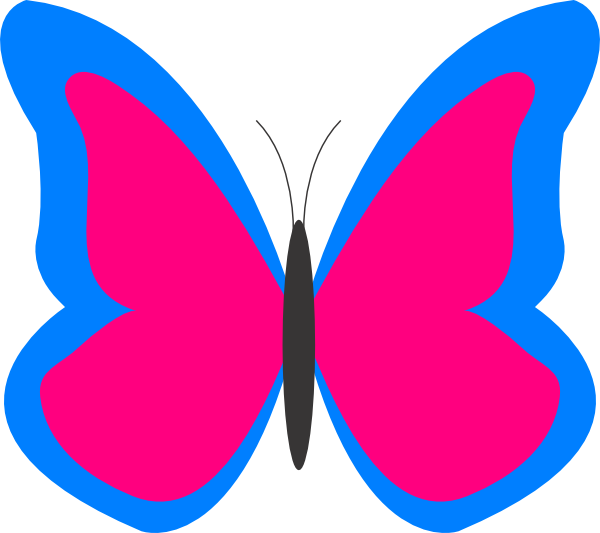 600x533 Butterfly Outline Clipart Free Clipart Images